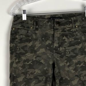INC Camouflage Skinny Jeans Size 4P Green